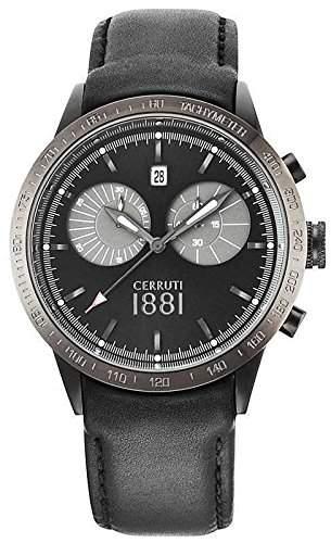 Cerruti Herren Armbanduhr Schwarz CRA096G222G