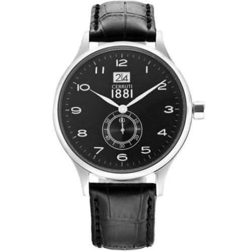 Cerruti Herren Armbanduhr Schwarz CRA102A222K