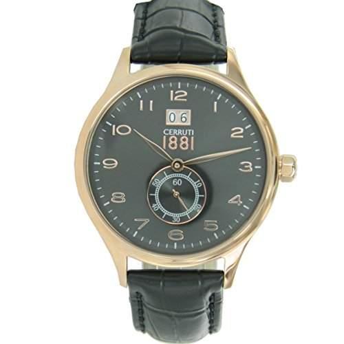 Cerruti Herren Armbanduhr Schwarz CRA102C222K