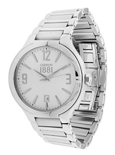 Cerruti Herren Armbanduhr Silber CRA106SN01MS
