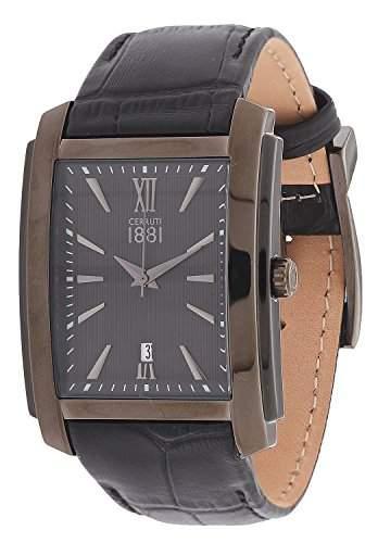 Cerruti Herren Armbanduhr Schwarz CRB040W222C
