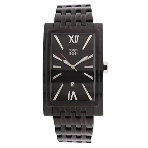 Cerruti Herren Armbanduhr Schwarz CRB042SB02MB