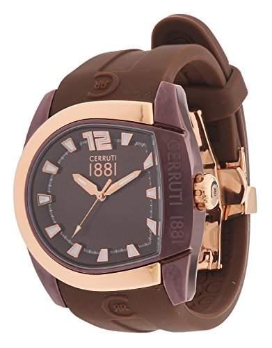 Cerruti Herren Armbanduhr Braun CRF001L555I