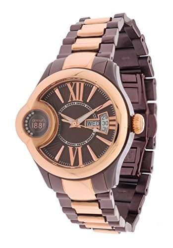 Cerruti Damen Armbanduhr Dunkelbraun CRM043L231F