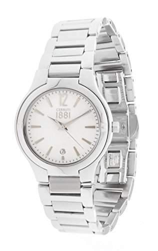 Cerruti Damen-Armbanduhr Analog Quarz Edelstahl CRM106SN01MS