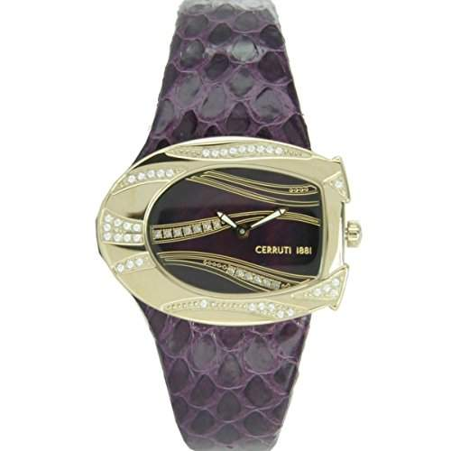 Cerruti Damen Armbanduhr Lila CRP003R288A