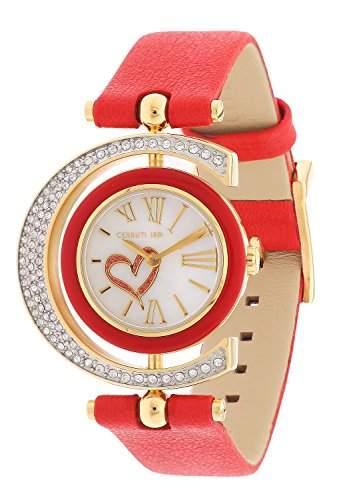 Cerruti Damen Armbanduhr Rot CRP004SG28RD