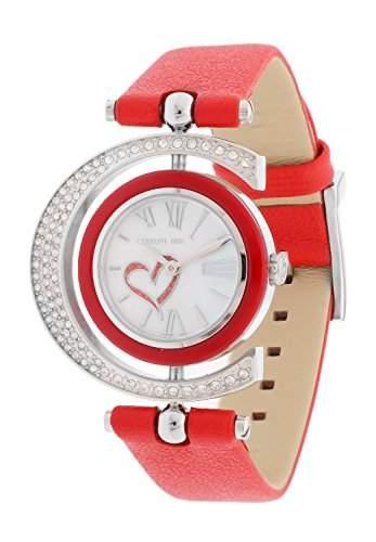Cerruti Damen Armbanduhr Rot CRP004SN28RD