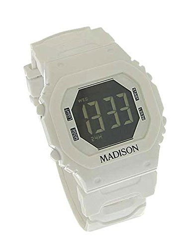 Madison N Y Candy Time Damen Digital Silikon weiss 9445