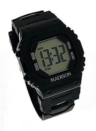 Madison N Y Candy Time Damen Digital Silikon schwarz 9446