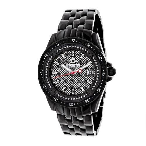 Black Centorum Diamond Watch 0 5ct Midsize Falcon