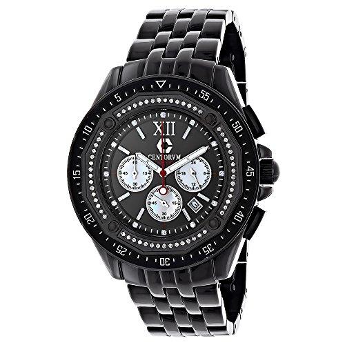 Black Diamond Watch Chronograph 0 55ct Centorum Mens Watch