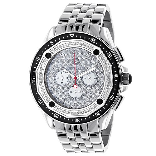 Centorum Mens Diamond Watch 0 55ct Chronograph Falcon