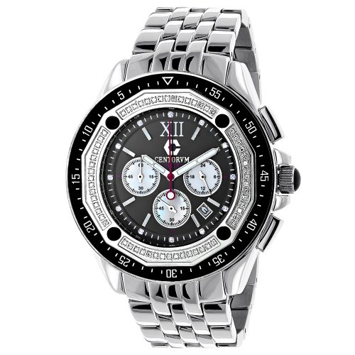 Centorum Diamond Watch Mens Chronograph Falcon 0 55ct