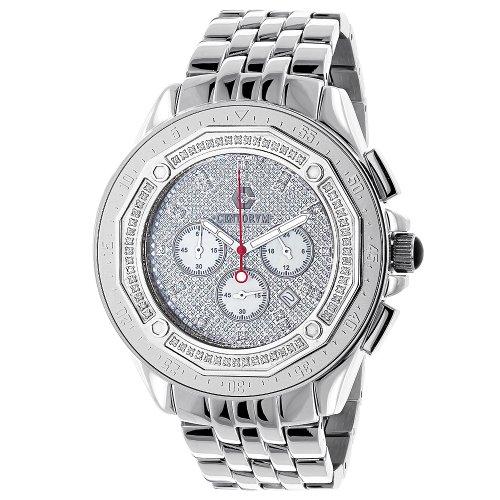Centorum Mens Diamond Watches 0 55ct Falcon Chronograph