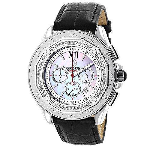 Mens Diamond Bezel Watch by Centorum Falcon 0 55ct