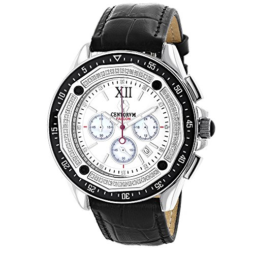 Mens Diamond Chronograph Watch by Centorum Falcon 0 55ct