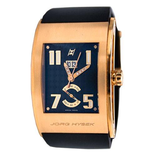 Hysek Kilada Herren Automatikwerk Schwarz Kautschuk Armband Uhr KI32R00A42 CA01