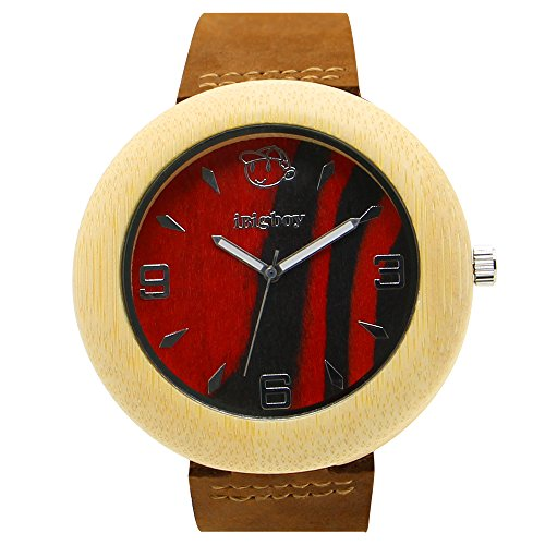 iBigboy Einfache Holz Uhr mit Tanz Uhr und Partei Uhr fuer Jugendliche Uhr