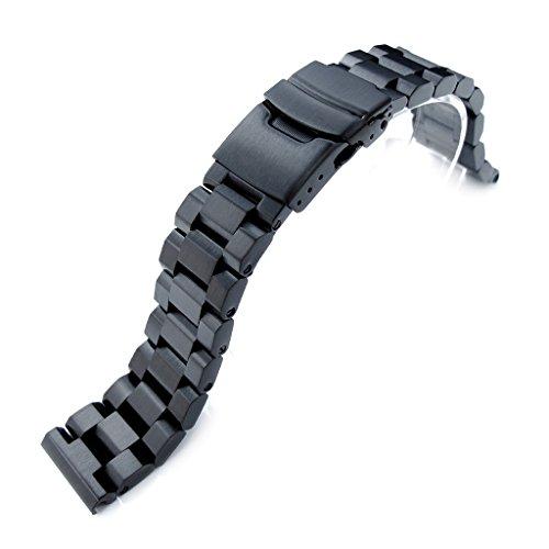 20 mm hexad Oyster 316L Edelstahl Armbanduhr Band gerade Lug Diver Schliesse PVD schwarz