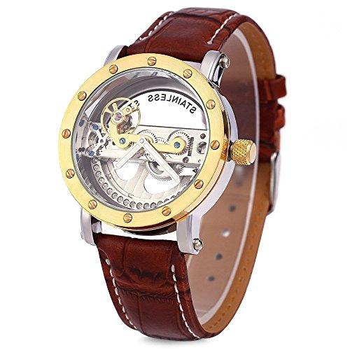 Leopard Shop SHENHUA Hohl automatische mechanische Uhr Golden