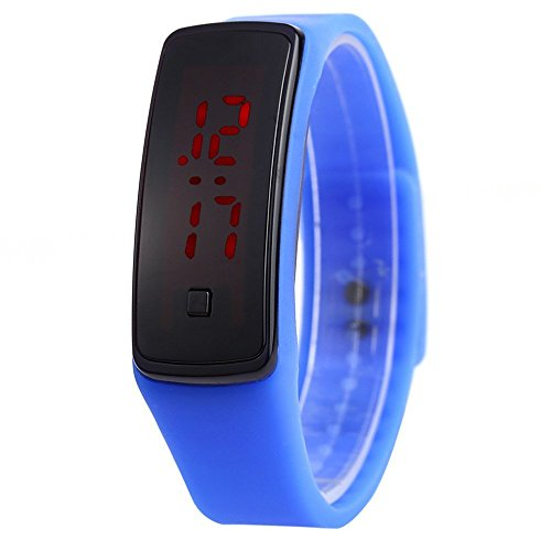 Leopard Shop Unisex LED Digital Armband Uhr Sport Armbanduhr Deep Blue