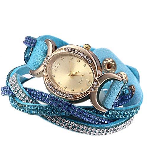Leopard Shop Frauen Armband Strass Kette Azure