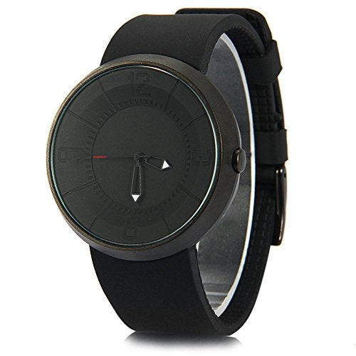 Leopard Shop Break Unisex Militaer Sport Silikon Armband Watch Quarz Schwarz Laserpointer