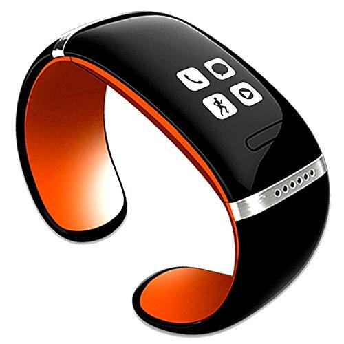 Leopard Shop Neueste L12S OLED Sports Schrittzaehler Bluetooth Armband Orange