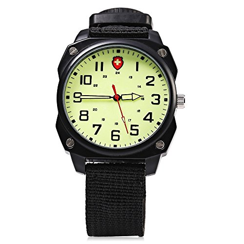 Leopard Shop Unisex Sport Quarzuhr phosphoreszierende Zeiger Arabische Ziffern Massstab Kompass Funktion Armbanduhr 4