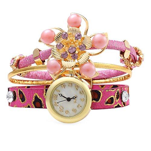 Leopard Shop weiblich Vogue Bohemian Schmuck Poly Urethan Band Pink