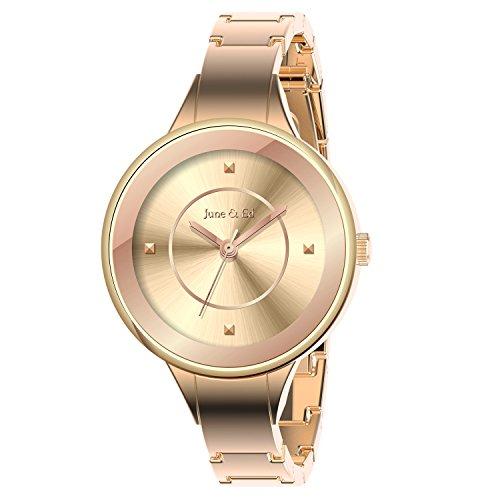 June Ed Quarz Armbanduhr Rosegold Uhr Armband Damenuhr W 0001