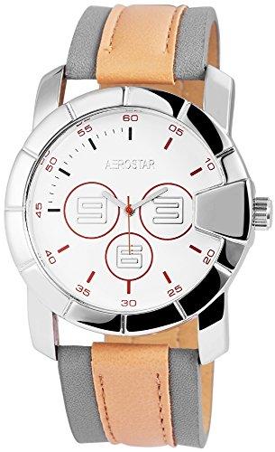 Aerostar Herren analog Armbanduhr mit Kunstleder Armband 211022500009