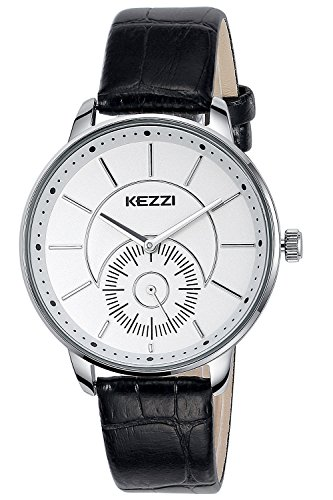 INWET Mode Herren und Damen Weiss Zifferblatt Leder Armband