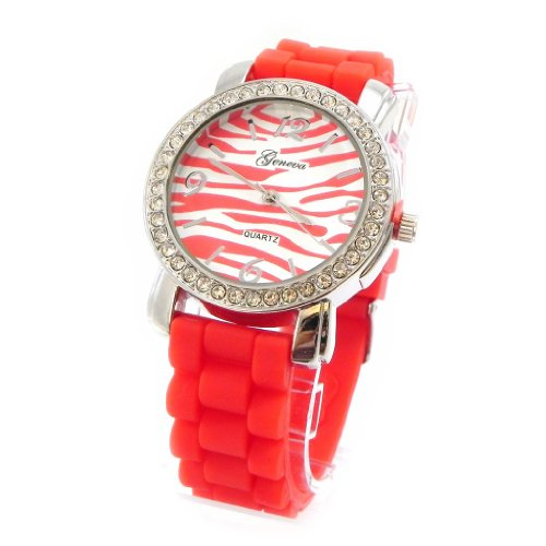 Armbanduhr design Absolu red zebra