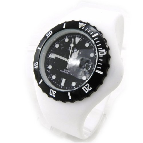 Armbanduhr design Absolu weiss schwarz