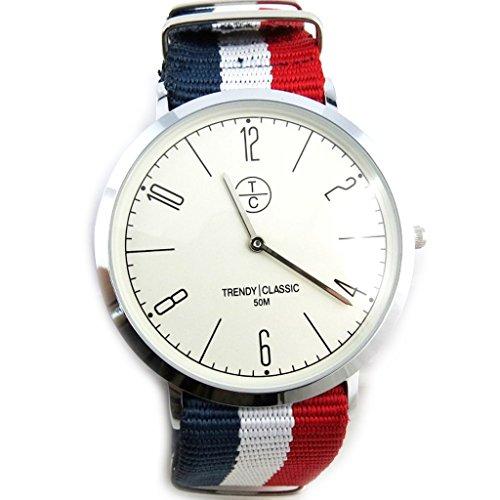 Armbanduhr french touch Trendyrot weiss blau frankreich