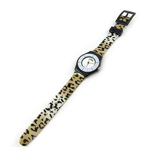 Armbanduhr fuer frauen Trendybrauner leopard