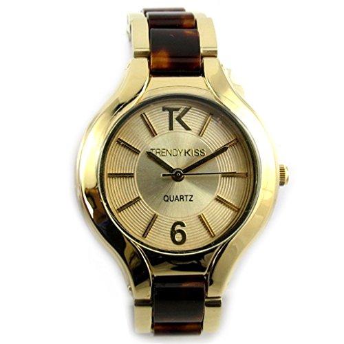Armbanduhr fuer frauen Trendygoldfarben braun