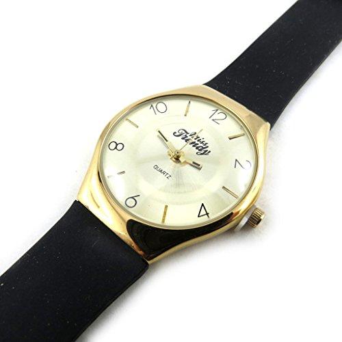 Armbanduhr fuer frauen Trendygoldfarben schwarz