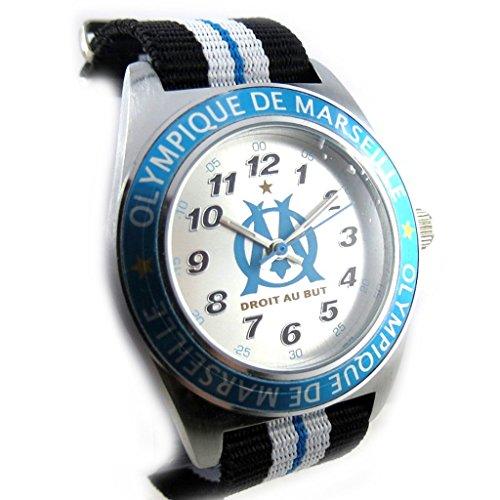 Armbanduhr kind Omblau schwarz silberfarben