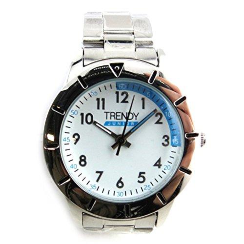 Armbanduhr kind Trendyblau weiss silberfarben