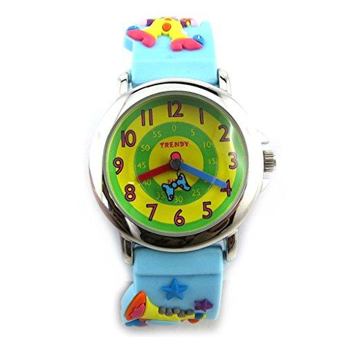 Armbanduhr kind Trendygruen blau clown
