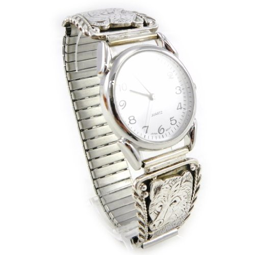 Armbanduhr silber fuer maenner Navajos