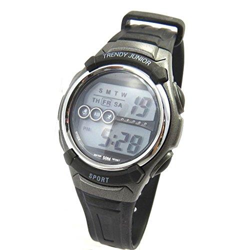 Armbanduhr silikon Trendyschwarz grau digital