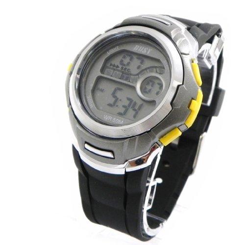 Armbanduhr sport Busy gelb grau