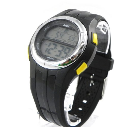 Armbanduhr sport Busy gelb schwarz