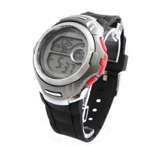 Armbanduhr sport Busy rot grau