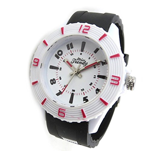 Armbanduhr tochter Trendyweiss schwarz rot