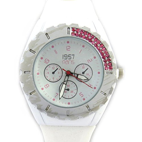 Strass uhr Absoluweisse rose